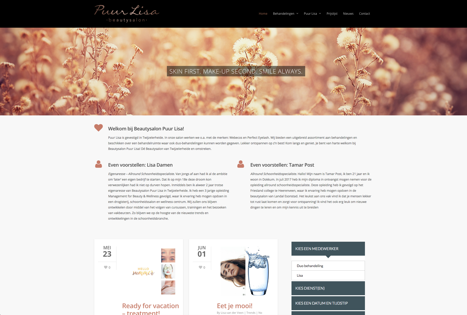 Puur Lisa – Website en huisstijl.